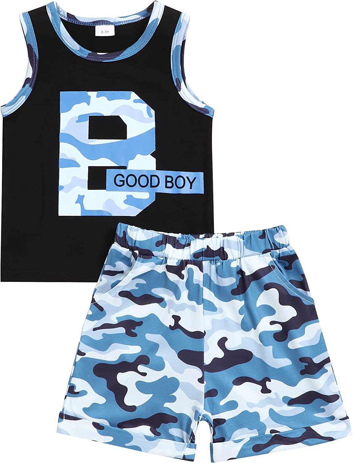 Toddler Baby Boys Summer Clothing Sets Cute Letters Print Tops Short Sleeeve T-Shirt+ Striped Shorts Outfits 2Pcs