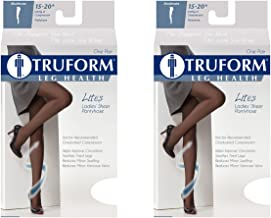 Truform 1775 Compression Pantyhose, 15-20 mmHg, Sheer (Pack of 2)