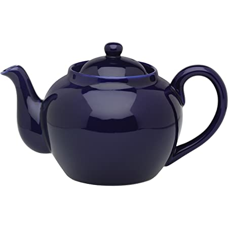 Cobalt Blue London Pottery Globe Large Teapot with Strainer Ceramic 8 Cup 1.8