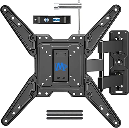 Mounting Dream Full Motion TV Wall Mounts Bracket with Perfect Center Design for 26-55 Inch LED, LCD, OLED Flat Scree...