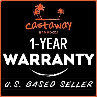 Castaway Hammocks Parachute Hammock, USA Based Hammocks Brand Gear, Indoor Outdoor Backpacking Survival & Travel, Portabl