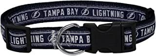 Pets First NHL Tampa Bay Lightning Collar for Dogs & Cats, Large. - Adjustable, Cute & Stylish! The Ultimate Hockey Fan Collar!