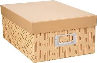 Darice 30032642 Decorative Photo Storage Box, Tan