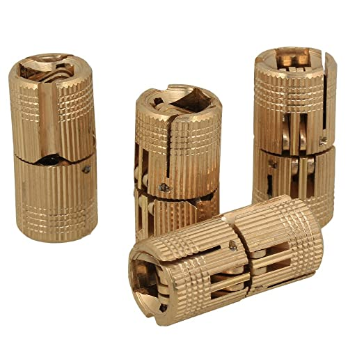 Invisibles Forme cylindrique Ton laiton Lot de 20 mini charni/ères Uooom
