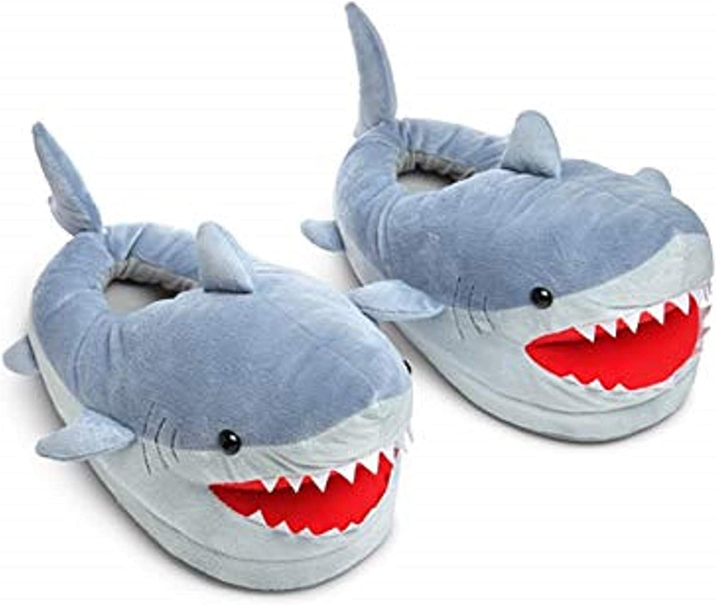 ThinkGeek Chomping Shark Plush Slippers for Grown Ups
