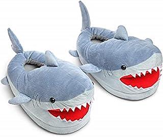 Chomping Shark Plush Slippers for Grown Ups