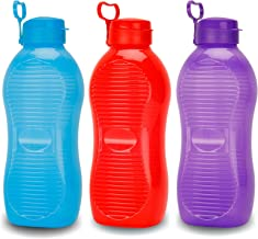 oliveware King Plastic Water Bottle, 2L, Set of 3, Multicolour