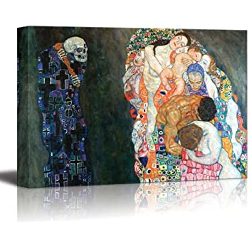 """Death and Life by Gustav Klimt - Canvas Print Wall Art Famous Painting Reproduction - 12"""" x 18"""""""