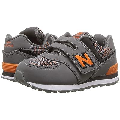New Balance Kids IV574v1 (Infant/Toddler) (Castlerock/Bengal Tiger) Boys Shoes