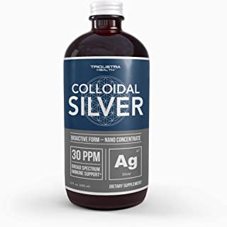 Bioactive Colloidal Silver - 8 oz, Glass Bottle, Vegan | Safe Doses with Highest Effectiveness | Nano Ions, 30 PPM | Immun...