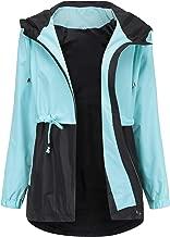 Romanstii Waterproof Raincoat,Women Outdoor Hooded Rain Jacket Long Trench Coats Lined Windbreaker (S-XXL)