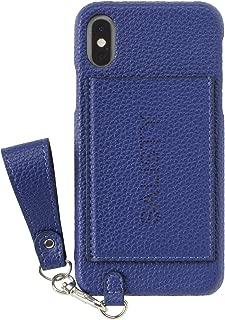 salisty M iPhone XS/X ケース パンチング ロゴ [ブルー]