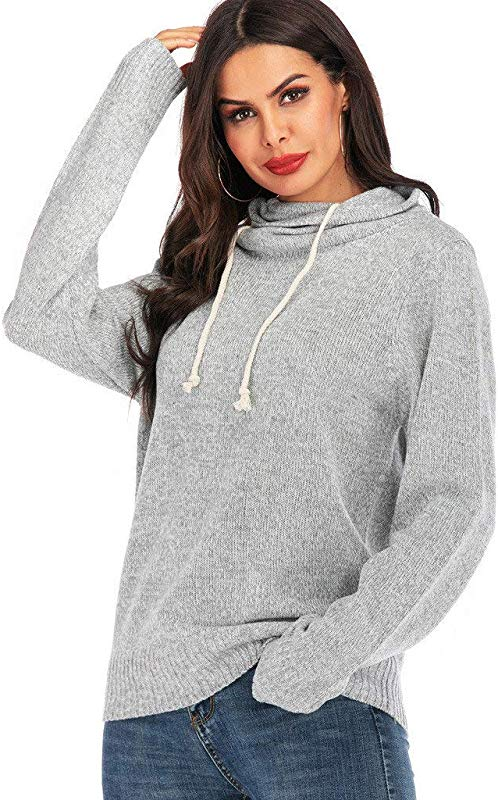 Jin Co Women S Hoodies Pullover Sweaters Fashion Long Sleeve Lightweight Loose Casual Hoodies Sweatshirts Tops