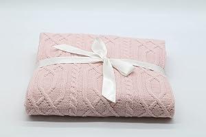 Babydecke | Neugeborenen Decke | atmungsaktive Baby Sommer/Herbstdecke für Mädchen/Jungen | leichte Strickdecke |...