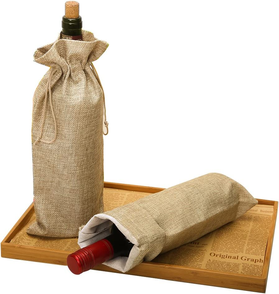HRX Package Burlap Wine Bags Lowest price challenge Drawstring Ranking TOP4 10pcs Clot Hessian with