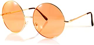 FBL Oversize Round Lovely Color Tinted Lens Sunglasses Spring Hinge A119 A120