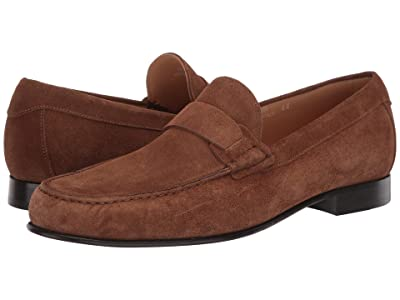 Canali Moccasin Toe Loafer (Brown Suede) Men