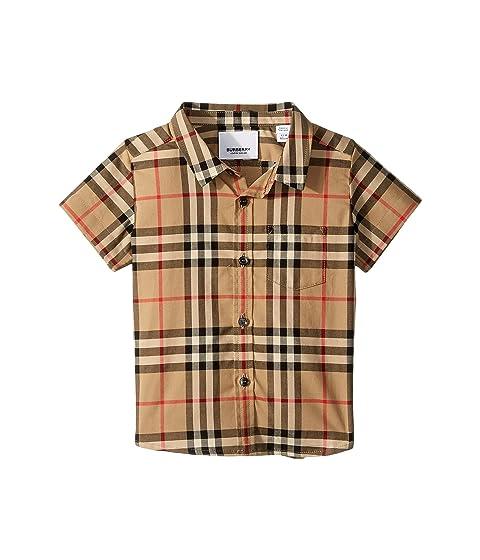 Burberry Kids Fredrick Short Sleeve Pocket Shirt (Infant/Toddler)