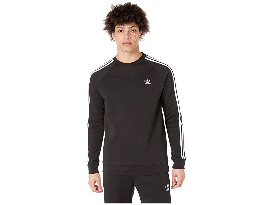 Image of adidas Originals 3-Stripes Crew (Black) Men's Short Sleeve Pullover