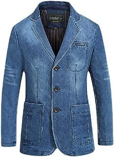 Plus-Size Blazer Simple Notched Collar Pockets Trucker Jacket