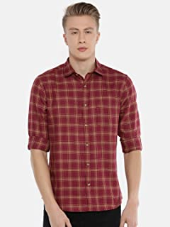 Chennis Men's Brown Casual Shirt