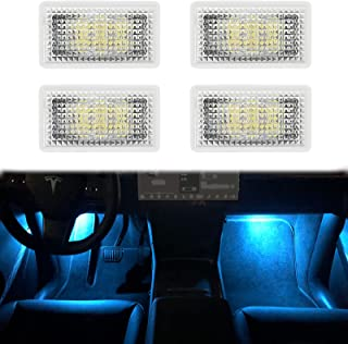 Carwiner Tesla Model 3/Y/S/X Ultra-bright Interior LED Lighting Bulbs Kit Accessories fit Trunk, Frunk, Door Puddle, Foot-...