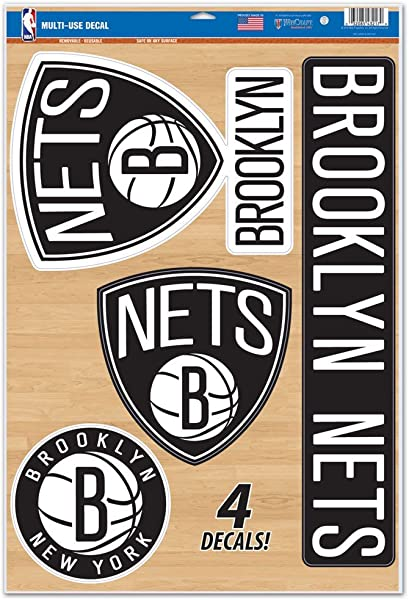 WinCraft NBA Brooklyn Nets WCR43217014 Multi Use Decal 11 X 17