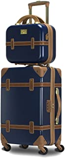 Chariot Gatsby 2-Piece Hardside Carry-On Spinner Luggage Set, Navy, (Tote/20-Inch)