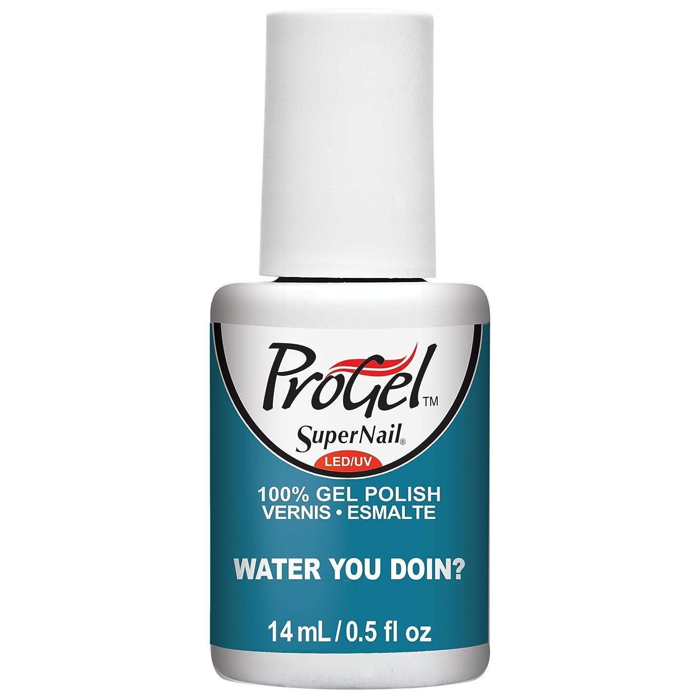 読みやすい木午後SuperNail ProGel Gel Polish - Water You Doin? - 0.5oz / 14ml