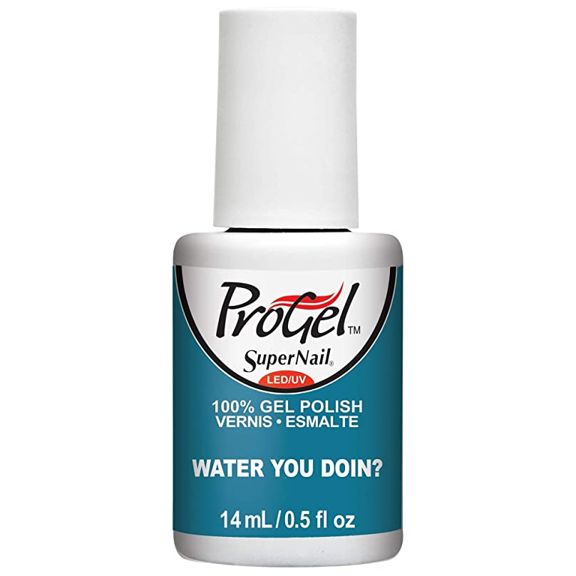 連鎖差別的白菜SuperNail ProGel Gel Polish - Water You Doin? - 0.5oz / 14ml