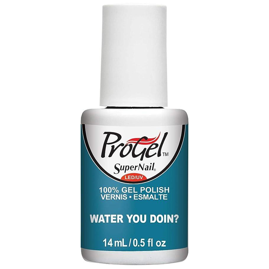 プレミアム病的給料SuperNail ProGel Gel Polish - Water You Doin? - 0.5oz / 14ml