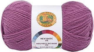 Lion Brand Yarn 675-146 New Basic 175 Yarn, Plum
