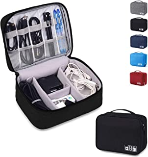 Auma Travel Electronics Organiser Carrying Case - Universal Accessories Bag for Power Cords, Cable, Charger, Phone, USB, S...