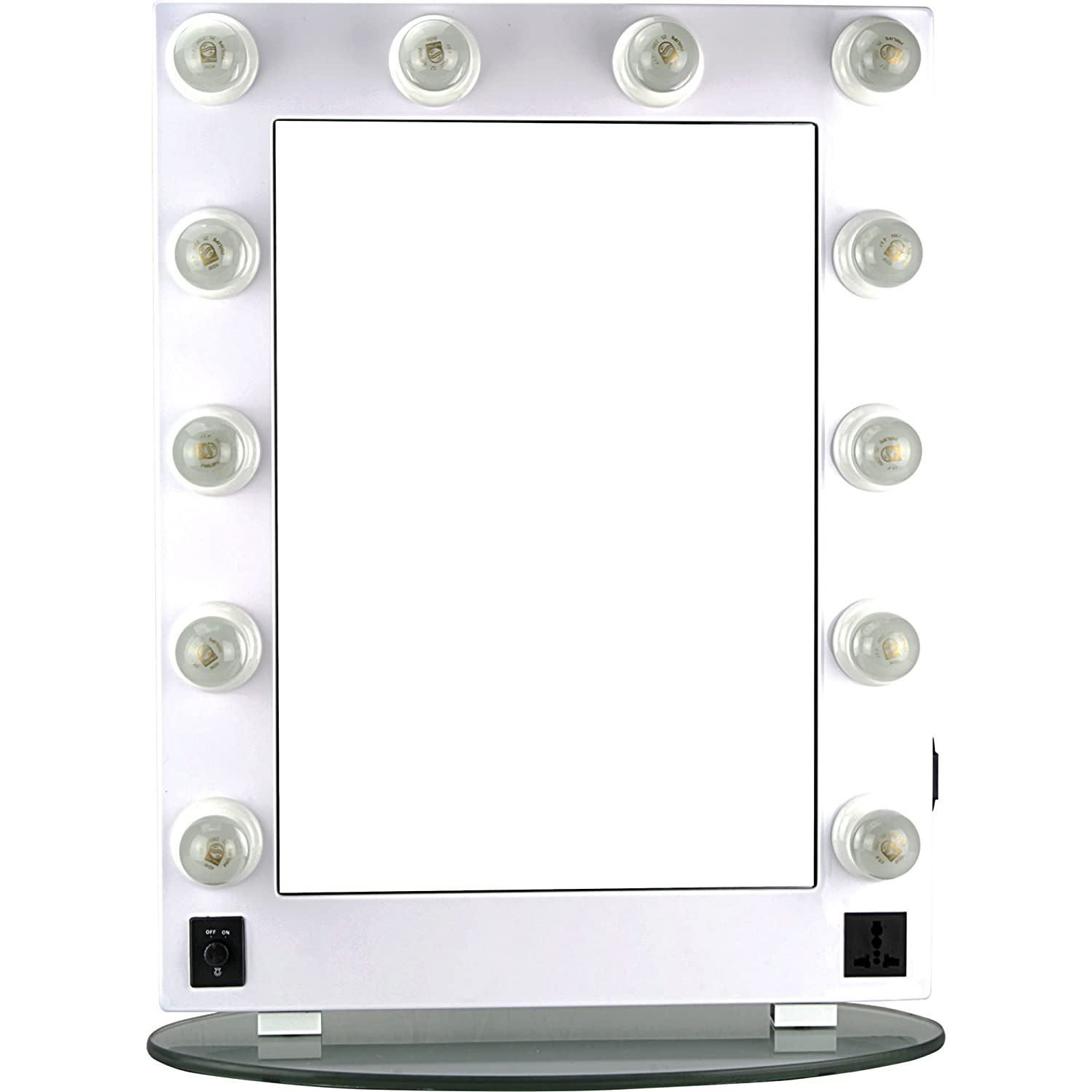 Hiker 12 Dimmer Light Piece Body and Glass Base Hollywood Vanity