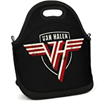 SUITPANRe Portable Lunch Box Insulated Lunch Bag Easy Clean Carry Boxes Rock Band Art Cooler Tote Bag for School Work Office Picnic Gym