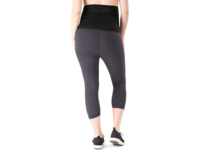 Belly Bandit Essential Mernity Capri Leggings Charcoal Pants