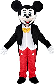Mickey Mouse Adult Mascot Costume Fancy Dress Cosplay Outfit