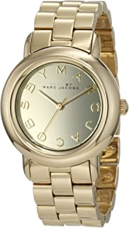 Marc by Marc Women's MBM3098 Gold Stainless-Steel Quartz Watch with Gold Dial.