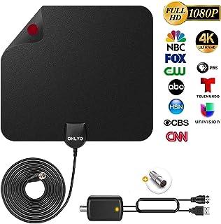 potenziamento di qualsiasi antenna TV non amplificata fino a 50 miglia amplificatore segnale antenna TV guadagno 25 dB Amplificatore antenna HDTV ad alto guadagno