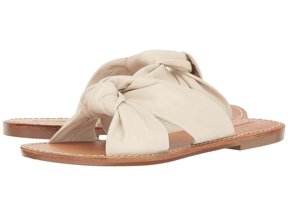 Soludos Knotted Slide Sandal (Ivory) Women
