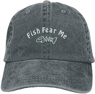 MDFY OEWGRF Fish Fear Me Denim Hat Adjustable Male Dad Baseball Cap 00df67e5acb7