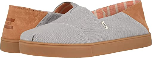Drizzle Grey Textured Twill Convertible Cupsole