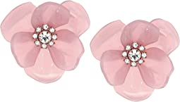 Slice of Stone Flower Studs Earrings