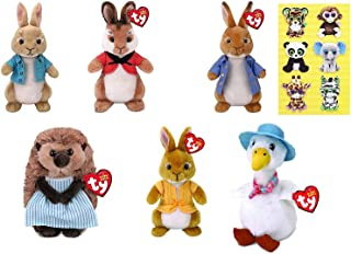 TY Peter Rabbit Collection - Cottontail - Flospy - Mopsy - Peter Rabbit - Mrs Tiggy Winkle and Jemima Puddle Duck