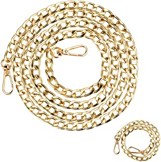 Beaulegan Purse Chain Strap - Replacement for Crossbody Shoulder Bags - 51 & 15 inch Long, 2PCS, Gold