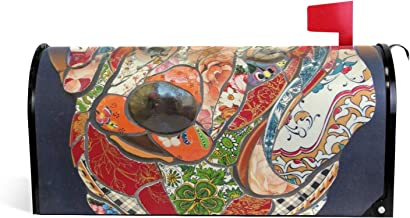 Tekkel Mosai Art Magnetische brievenbus Cover Tuin Home Decor Oversized 25,5 x 18 Inch