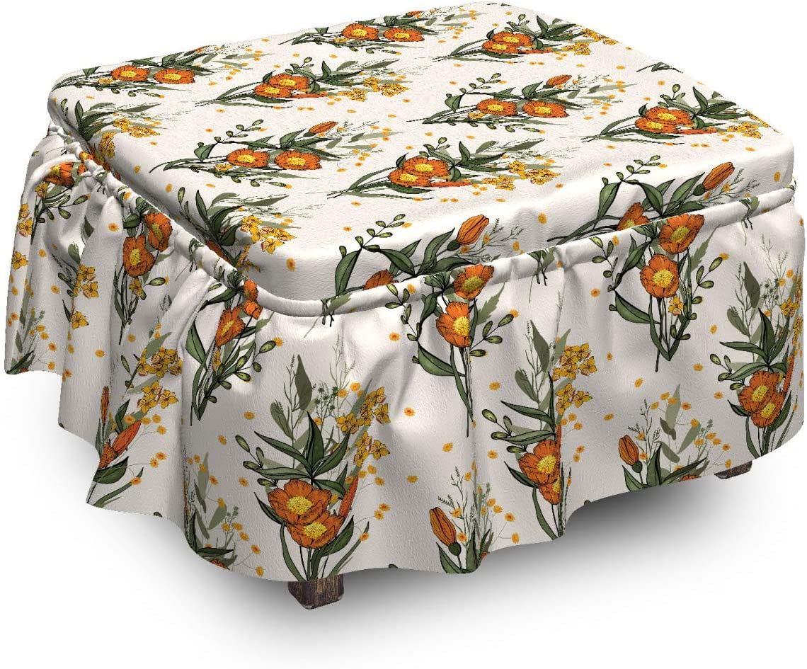 5 ☆ very Ranking TOP11 popular Ambesonne Hawaii Ottoman Cover Vintage Piec 2 Poppy California