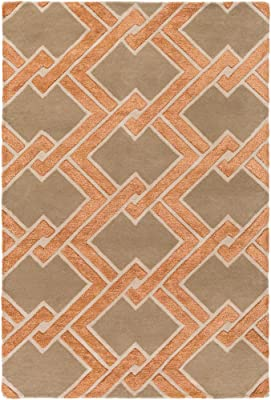 E by design RGN217BL14BL17-23 Tail Feathers Geometric Print Indoor//Outdoor Rug Peri