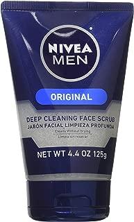 NIVEA FOR MEN Original, Deep Cleaning Face Scrub 4.4 oz (Pack of 10)