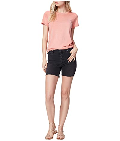 Paige Sarah Longline Shorts w/ Exposed Buttons in Night Time Women